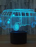 billige Selskapsklokke-1set 3D nattlys Trykk 7-Color Usb Berør sensoren Fargeskiftende