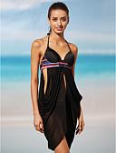 tanie Bikini i odzież kąpielowa 2017-Damskie Halter Bikini - Jendolity kolor
