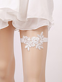 billige Bryllupskjoler-Elastisk Benvarmere / Fest / Bryllup Bryllupsklær Med Imitasjonsperle / Appliqué Strømpebånd