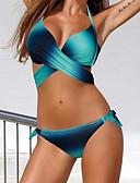 abordables Biquinis y Bañadores para Mujer-Mujer Halter Azul Piscina Rosa Amarillo Pícaro Bikini Bañadores - Arco iris Cruzado L XL XXL / Sexy