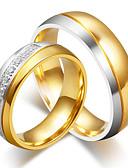 preiswerte Damen Kleider-Paar Kubikzirkonia Eheringe - Modisch, Elegant 6 / 7 / 8 Gold Für Hochzeit / Verlobung / Zeremonie