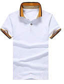 cheap Men's Polos-Men's Polo - Color Block Shirt Collar / Short Sleeve