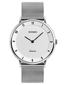 cheap Quartz Watches-SKMEI Men's Wrist Watch Japanese Quartz 30 m Water Resistant / Water Proof Cool Stainless Steel Band Analog Casual Fashion Minimalist Silver - Gray Red Blue