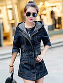 cheap Women's Denim Jackets-Women's Basic Cotton Denim Jacket - Solid Colored