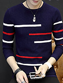 cheap Men's Sweaters & Cardigans-Men's Weekend Long Sleeve Long Pullover - Solid Colored Round Neck