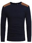 זול סוודרים וקרדיגנים לגברים-טלאים, אחיד - סוודר רזה שרוול ארוך צווארון עגול פעיל סגנון סיני ספורט סוף שבוע עבודה בגדי ריקוד גברים