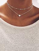 preiswerte Damen Kapuzenpullover & Sweatshirts-Damen Glasperlen Halsketten - Herz Grundlegend Gold, Silber Modische Halsketten Für Hochzeit, Party, Geburtstag