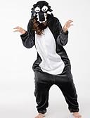 billige Damehatte-Voksne Kigurumi-pyjamas Ulv Onesie-pyjamas Flannelstof Grå Cosplay Til Damer og Herrer Nattøj Med Dyr Tegneserie Festival / Højtider Kostumer
