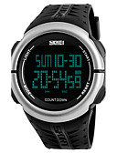 cheap Sport Watches-SKMEI Men's Sport Watch / Military Watch / Wrist Watch Japanese Alarm / Calendar / date / day / Chronograph PU Band Casual / Fashion / Dress Watch Black / Green / Stainless Steel / LED / Stopwatch