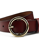 cheap Fashion Belts-Women's Cute Party Work Alloy Wide Belt - Solid Colored