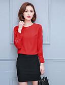 abordables Camisas y Camisetas para Mujer-Mujer Algodón Blusa Un Color