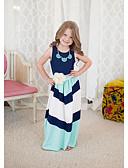 رخيصةأون فساتين البنات-فستان بدون كم مخطط خطوط للفتيات طفل صغير / قطن