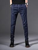 זול מכנסיים ושורטים לגברים-בגדי ריקוד גברים מידות גדולות רזה / ג'ינסים מכנסיים קולור בלוק