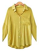 olcso Női kapucnis felsők és pulóverek-Állógallér Női Pamut Póló - Egyszínű / Ősz