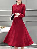 preiswerte Herren Pullover-Damen Übergrössen Ausgehen Hülle Kleid - Druck Midi Ständer Rot