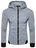 cheap Men's Hoodies & Sweatshirts-Men's Long Sleeves Hoodie - Solid Colored Hooded