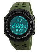 cheap Sport Watches-SKMEI Men's Sport Watch / Wrist Watch / Digital Watch Japanese Alarm / Calendar / date / day / Chronograph PU Band Black / Green / Water Resistant / Water Proof / Compass / Luminous / Stopwatch