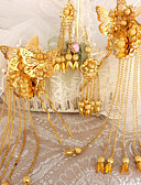 cheap Wedding Veils-Brass / Alloy Hair Combs / Flowers with 1 Wedding Headpiece