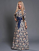 cheap Women's Dresses-Women's Club Going out Holiday Boho Sheath Dress Print High Rise Maxi