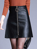cheap Women's Skirts-Women's Plus Size Pencil Skirts - Solid Colored
