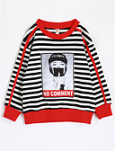cheap Girls' Clothing-Girls' Stripe Tee, Cotton Fall Long Sleeves Black
