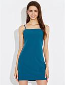 preiswerte Damen Kleider-Damen Ausgehen Street Schick A-Linie Bodycon Kleid - Rückenfrei Schleife, Solide Schachbrett Mini Gurt Hohe Hüfthöhe