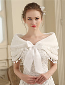 cheap Wedding Wraps-Faux Fur Wedding Party / Evening Women's Wrap With Bowknot Capelets