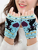 cheap Gloves-Women's Cartoon Winter Gloves Keep Warm Fashion Lovely Knitwear Wrist Length Half Finger Gloves - Jacquard