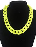 preiswerte Bedruckte Kleider-Damen Ketten Statement Ketten damas Luxus Modisch Gelb Rot Modische Halsketten Schmuck Für Alltag Normal