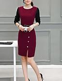 baratos Vestidos de Mulher-Mulheres Trabalho Para Noite Sofisticado Moda de Rua Bainha Vestido Retalhos Acima do Joelho
