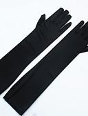 preiswerte Unterröcke für Hochzeitskleider-Stretch - Satin / Spandex Opernlänge Handschuh Brauthandschuhe / Party / Abendhandschuhe Mit Perle
