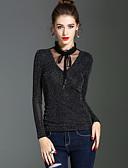 halpa Naisten yläosat-Naisten Stand-kaula-aukko Vintage T-paita, Yhtenäinen