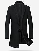 billige Herrejakker og -frakker-Tynd Herre Lang Ensfarvet Frakke