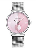 cheap Quartz Watches-Women's Wrist Watch Japanese Quartz 30 m Water Resistant / Water Proof Calendar / date / day Chronograph Stainless Steel Band Analog Charm Luxury Vintage Silver - Purple Pink Light Blue
