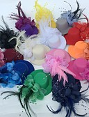 cheap Party Headpieces-Tulle / Feather Fascinators / Flowers / Hats with Floral 1pc Wedding / Special Occasion / Party / Evening Headpiece