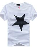 baratos Camisetas & Regatas Masculinas-Homens Tamanhos Grandes Camiseta - Esportes Activo Geométrica Algodão Decote Redondo / Manga Curta