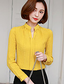 cheap Women's Shirts-Women's Blouse - Solid Colored V Neck