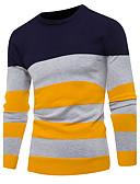 tanie Męskie swetry i swetry rozpinane-Męskie Podstawowy Okrągły dekolt Pulower Prążki Długi rękaw