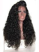 billige Nattøy til damer-Ekte hår Blonde Forside Parykk Brasiliansk hår Krøllet Kinky Curly Parykk Med babyhår 130% Hair Tetthet Afroamerikansk parykk 100 % håndknyttet Dame Blondeparykker med menneskehår / Kinky Krøllet