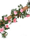 hesapli Dans Aksesuarları-Yapay Çiçekler 1 şube Düğün / Pastoral Stil Güller Masaüstü Çiçeği
