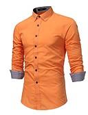 זול חולצות לגברים-אחיד מידות גדולות כותנה, חולצה - בגדי ריקוד גברים