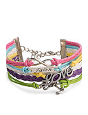 cheap Fashion Belts-Women's Wrap Bracelet / Leather Bracelet - Infinity Punk, Fashion Bracelet Rainbow For Daily / Casual / Stage