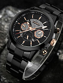 cheap Sport Watches-Men's Sport Watch / Wrist Watch Chinese Calendar / date / day / Water Resistant / Water Proof / Creative Stainless Steel Band Charm / Luxury / Casual Black / Silver