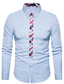 cheap Men's Ties & Bow Ties-Men's Cotton Shirt - Solid Colored Houndstooth