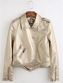 olcso Női nadrágok és szoknyák-Napi Vintage Spicc gallér Női Rövid Kožnate jakne Egyszínű Tél Poliuretán