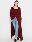 abordables Jerséis de Mujer-Mujer Noche Tallas Grandes Separado Camiseta Un Color / Primavera / Otoño