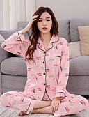 preiswerte Bademäntel & Nachtwäsche-Damen V-Ausschnitt Pyjamas - Druck, Buchstabe