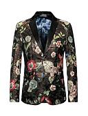 זול גברים-ג'קטים ומעילים-מתוחכם פאנק & גותיות סגנון רחוב מועדונים מידות גדולות בלייזר - בגדי ריקוד גברים, גדול דפוס