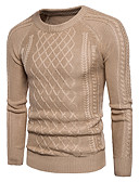 cheap Men's Shirts-Men's Street chic Long Sleeve Pullover - Solid Colored Round Neck