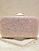 cheap Mother of the Bride Dresses-Women's Bags Faux Leather Evening Bag Sequin White / Blushing Pink